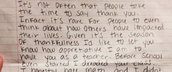 Thank You Notes To Teachers From Students - Google Search | Quotes