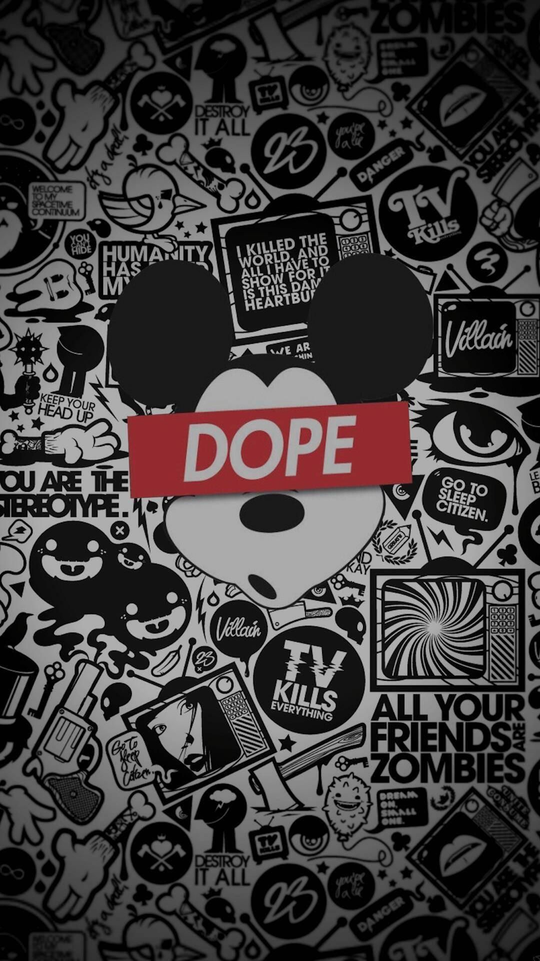 Mickey Mouse Dope Beautiful Wallpaper Pinterest Dope