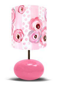 Polka Dots and Pink Roses on Pink Base - Lamp