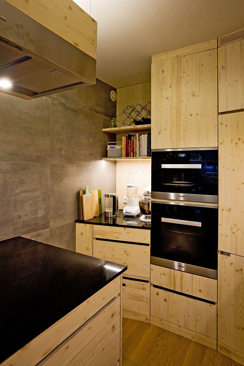Küche aus 3Schichtplatte Fichte weiß geölt. in 2019