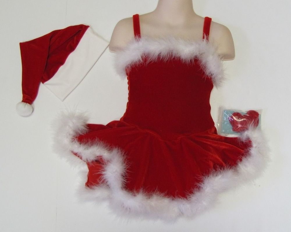 Christmas Ice Skating Costumes.Ms Santa Claus Ice Figure Skating Dress Red Christmas Cami