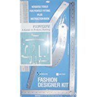 Fairgate Pattern Making Ruler Kit Drafting Tools Pattern Making Design