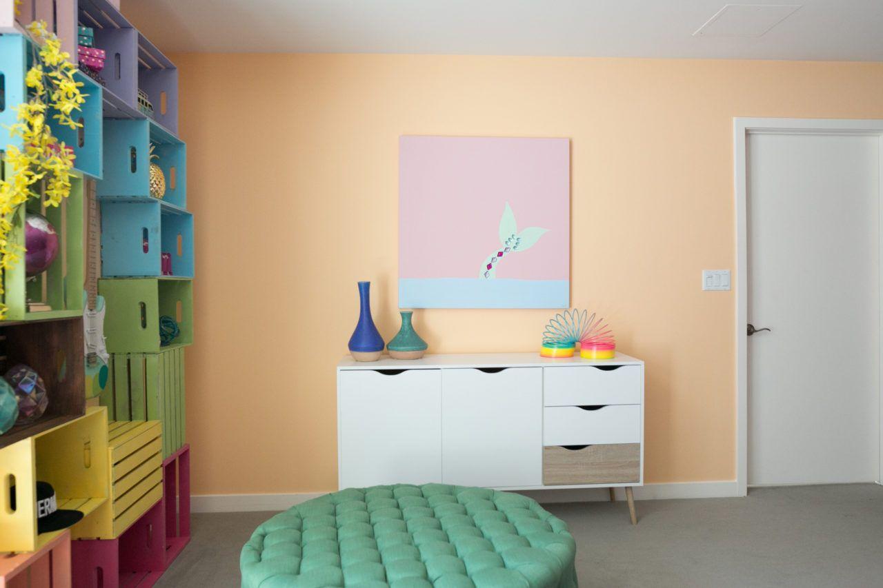 Rainbow Mermaid Unicorn Apartment Makeover For Jessie Paege  # Muebles Rainbow