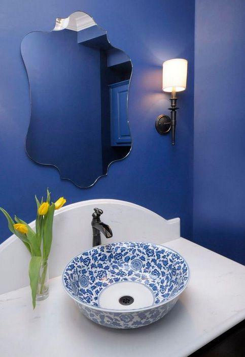 Greek Blue Bathroom More