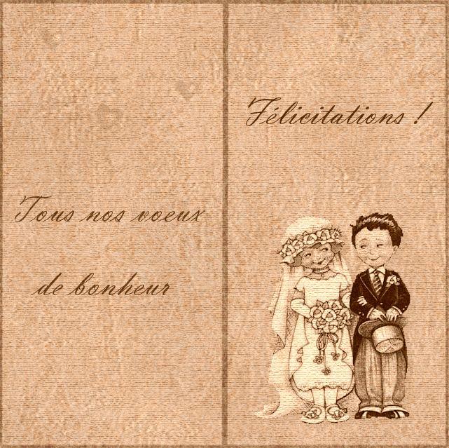 Carte f licitations mariage gratuite imprimer cartes gratuites pinterest for Carte de voeux personnalisee gratuite a imprimer