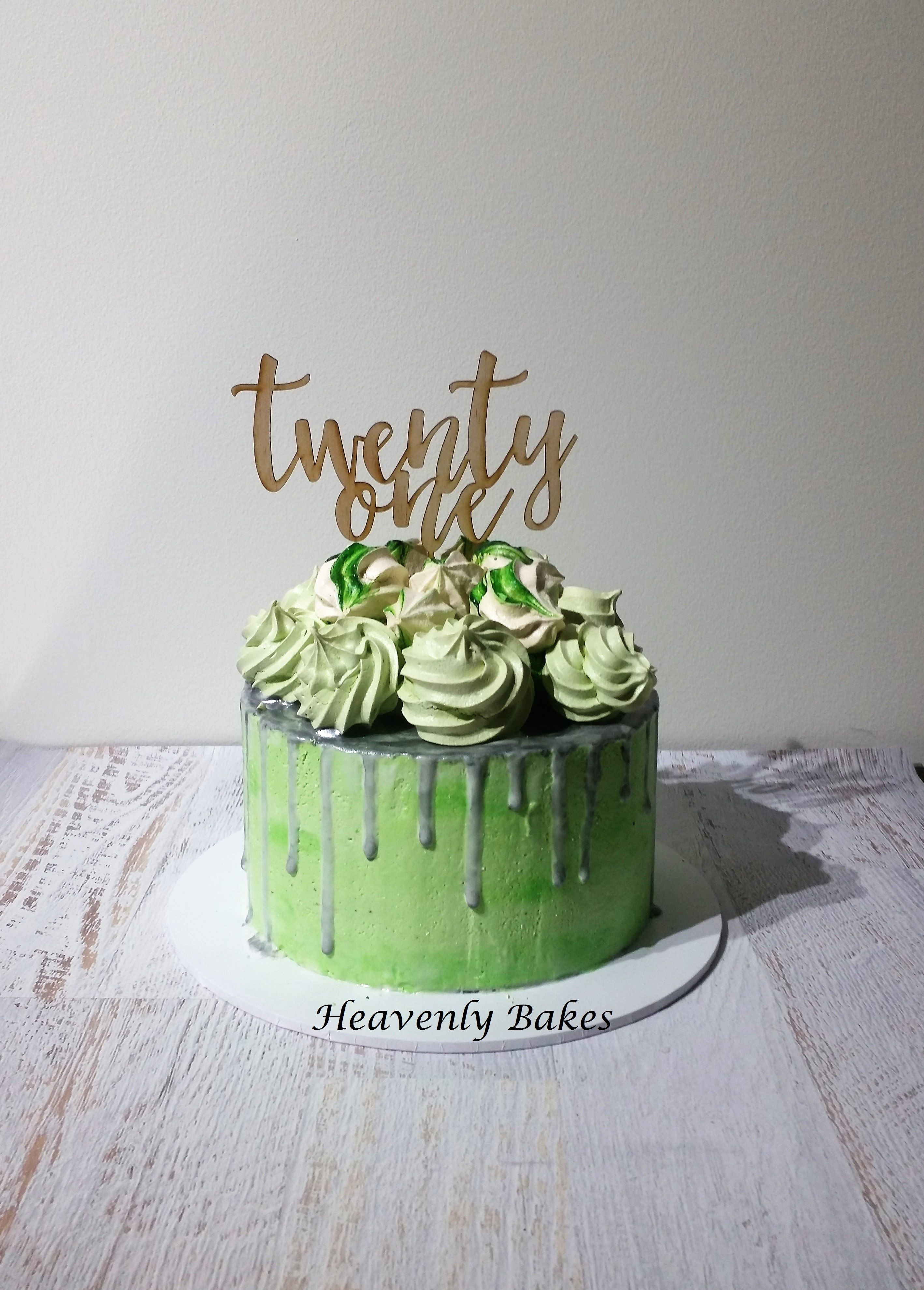 Swell Mint And Silver Drip Cake 21St Birthday Cake Red Velvet And Birthday Cards Printable Opercafe Filternl