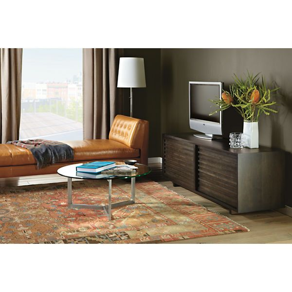 Wells Leather Studio Sofas - Penn Desk with Hudson Rolling File Cabinet - Office - Room & Board