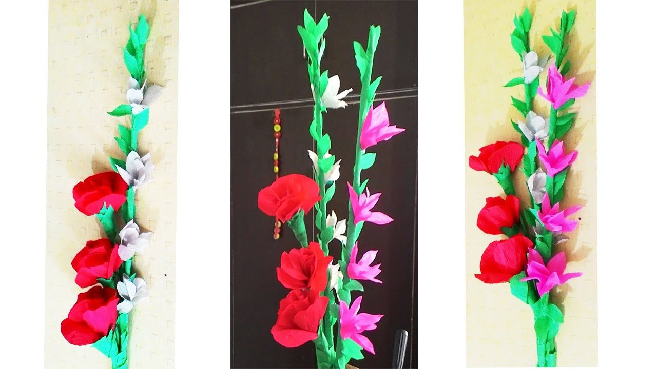 Crepe Paper Flower Bunch Diy Paper Flower Paper Flowers