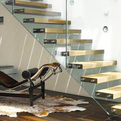 Frameless Glass Stair Railing Modern Stairs Glass Staircase   Frameless Glass Stair Railing   Metal   Contemporary   Seamless Glass   Glass U Shape   Detail