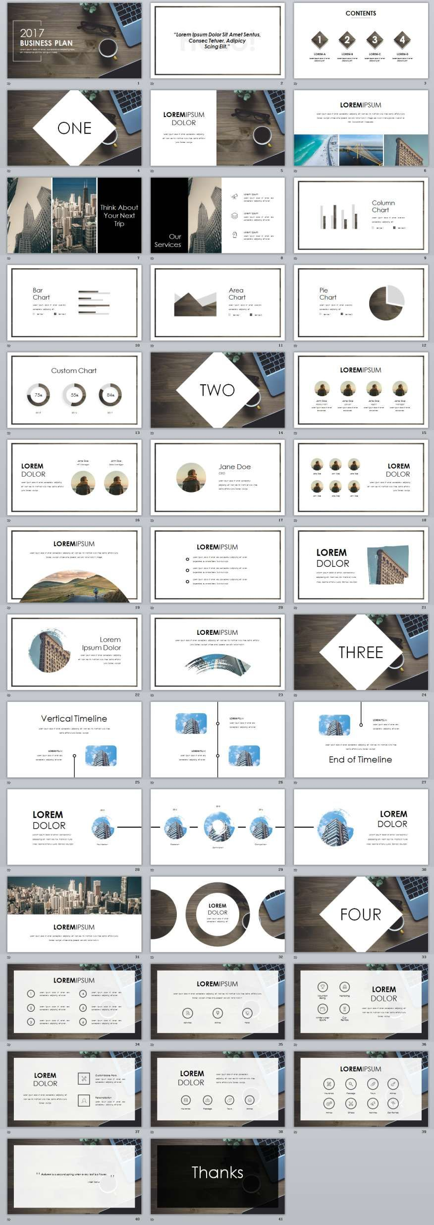 White Business Plan PowerPoint Template Business Planning - Business plan template powerpoint