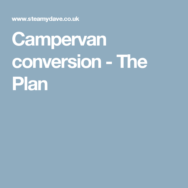 My Thoughts And Ideas About Converting The Suzuki Panel Van Into Campervan