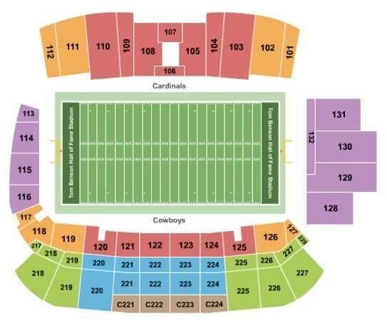 Tom Benson Stadium Seating Chart Beautiful Hall Of Fame Tickets In Canton Ohio