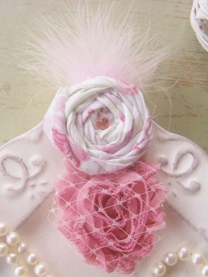 Shabby Chic Fascinator Hair Clip