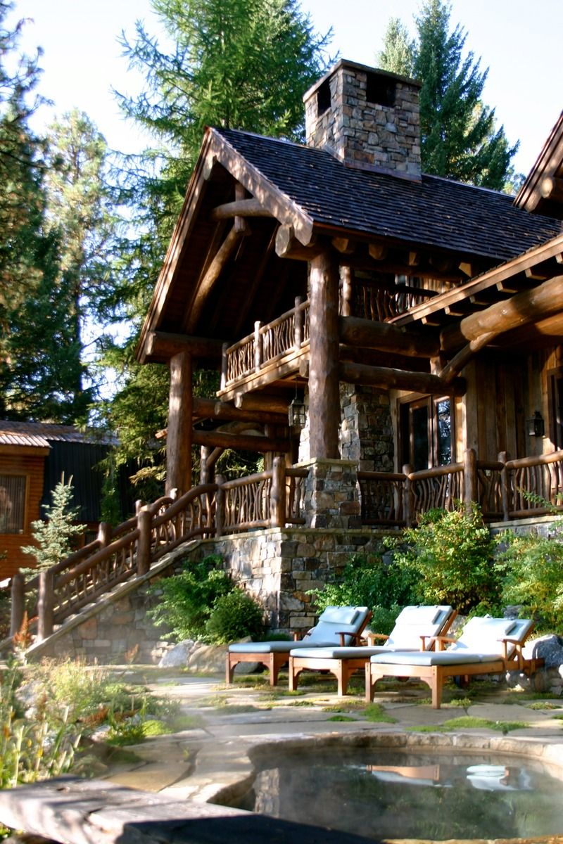 Scissor Log Cabin | Homes & cottages | Pinterest | Holzhäuschen ...
