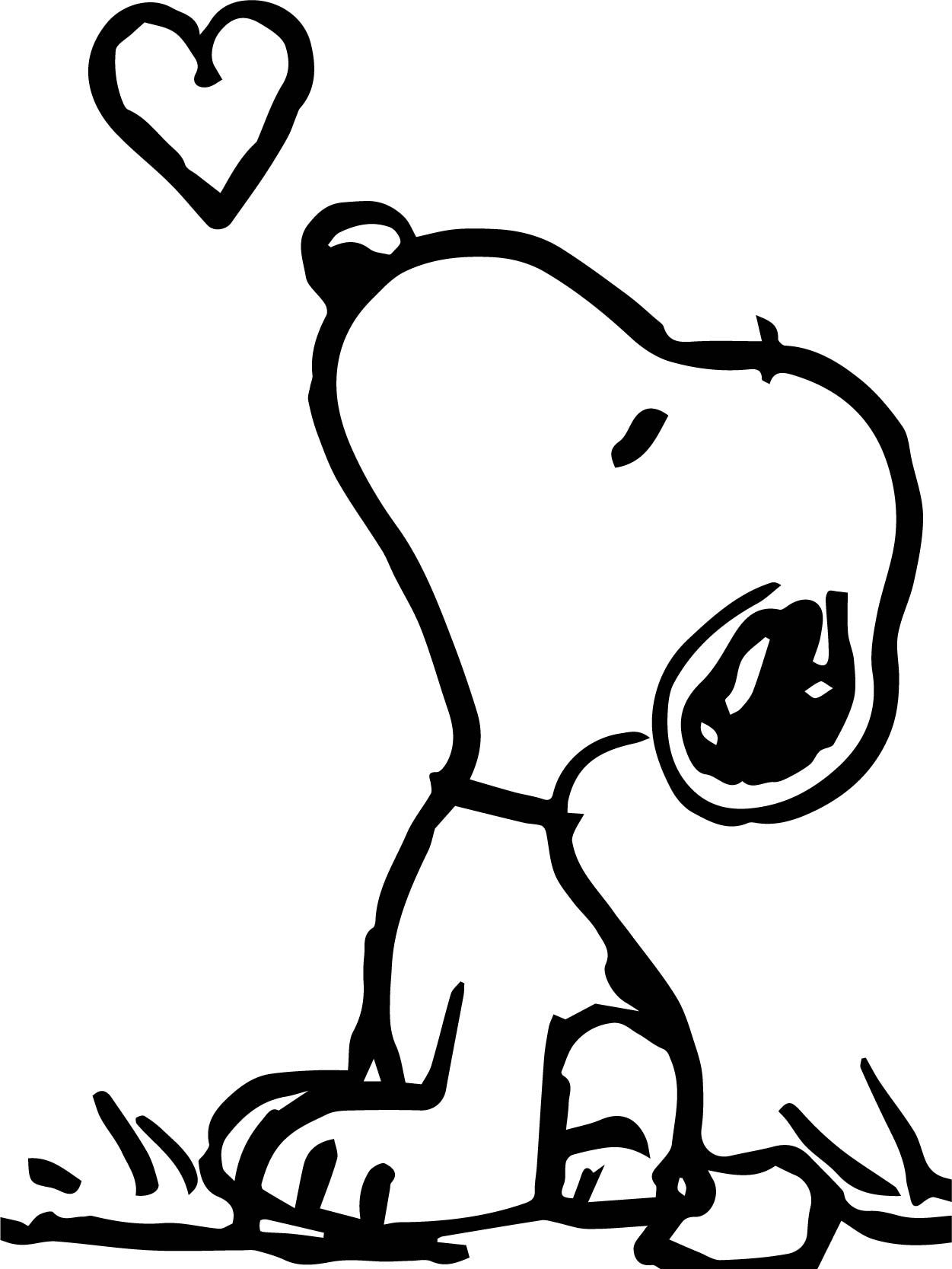 cool snoopy look fly heart coloring page  heart coloring