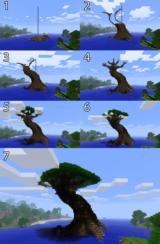 Pix For Minecraft Giant Tree City Minecraft Tree Minecraft Crafts Minecraft Blueprints
