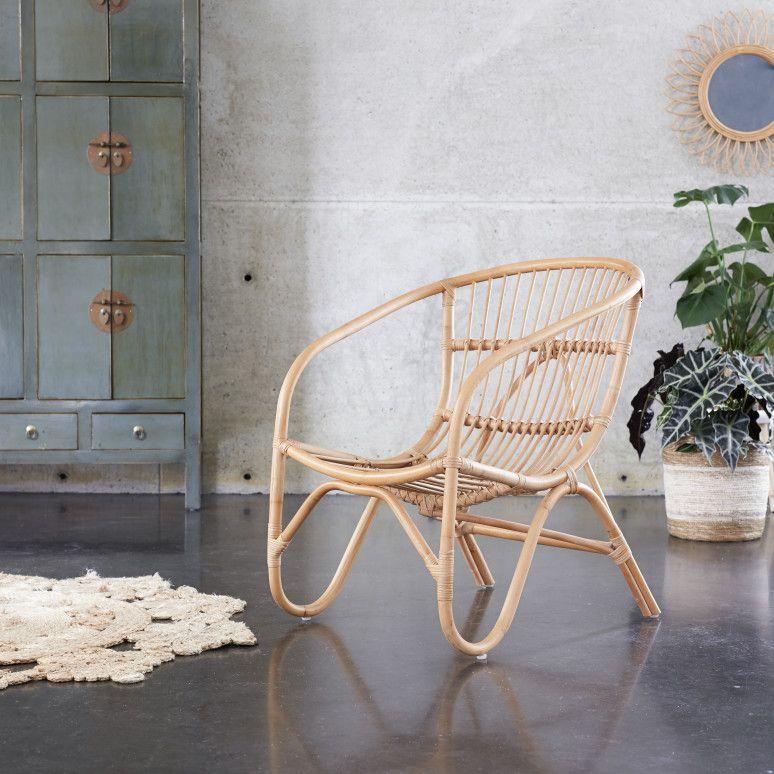 17 Lively Shabby Chic Garden Designs That Will Relax And: Mutine Natural Rattan Chair In 2020