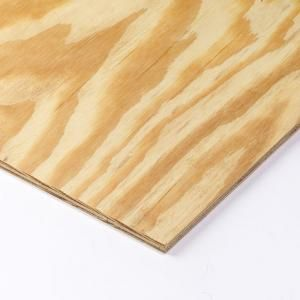 11 32 In X 4 Ft X 8 Ft Rtd Southern Yellow Pine Plywood Sheathing 112590 Pine Plywood Plywood Home Depot