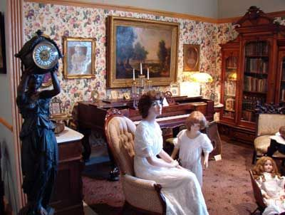 A Victorian parlor. Although I can't find an exact reproduction of ...