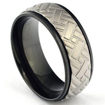 Black Titanium Car Tire Tread Ring