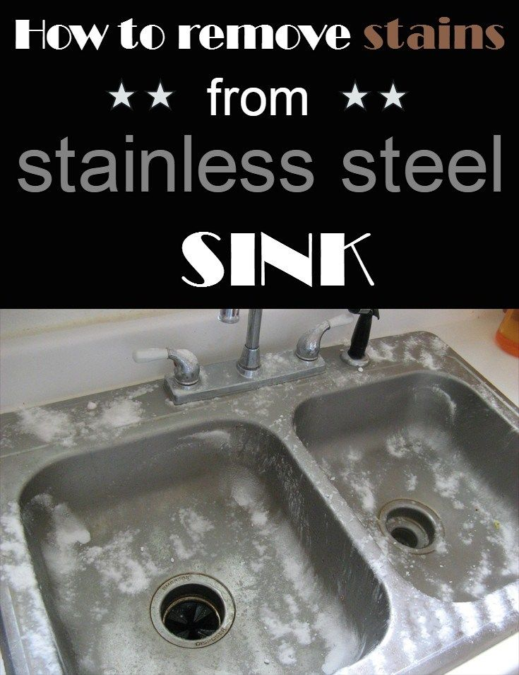 how to remove stains from stainless steel sink. Black Bedroom Furniture Sets. Home Design Ideas