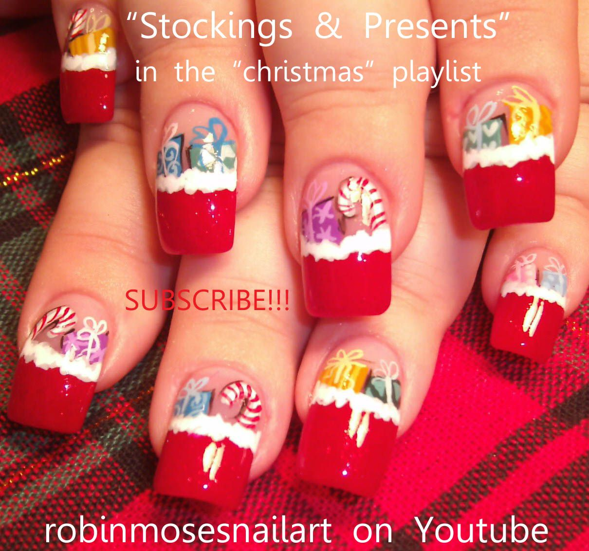 Christmas Stocking Nail Art Tutorials In One