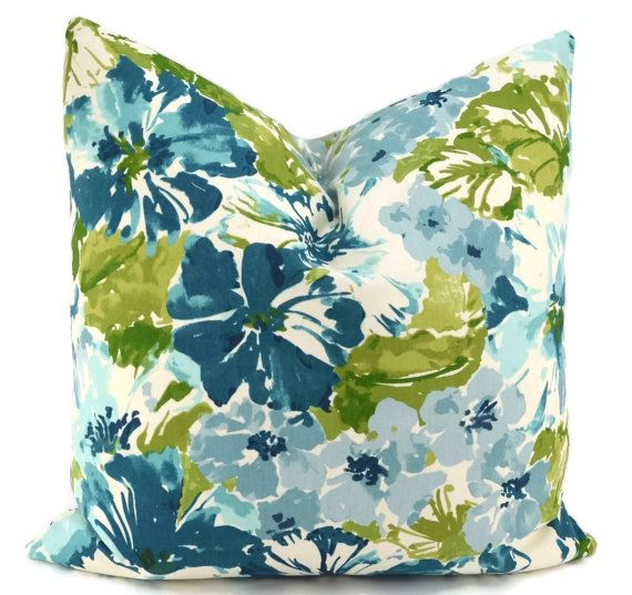 SALE Throw Pillow Cover Watercolor Floral Pillow by ThePillowSpot