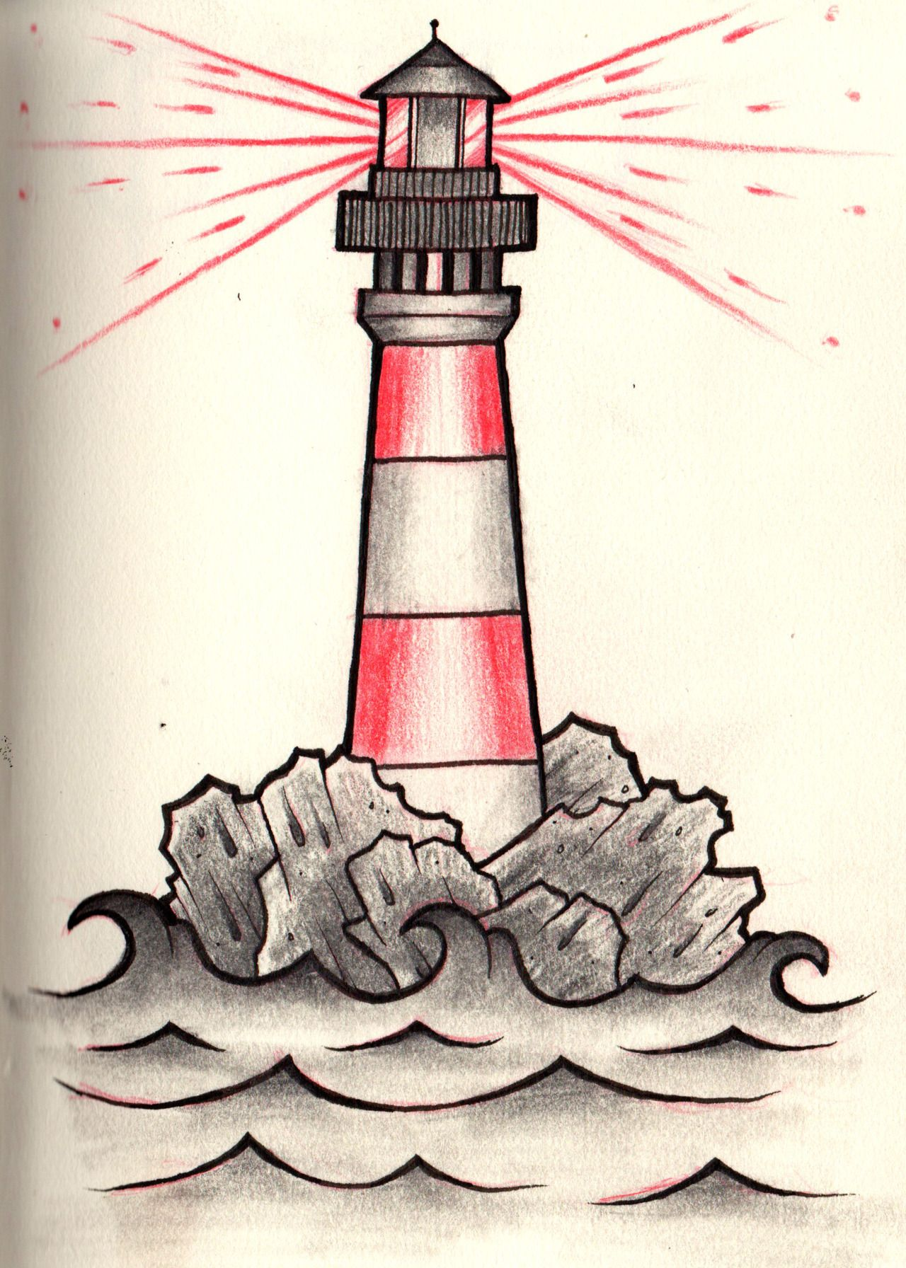 Simple lighthouse tattoo the hippest for New age home designs