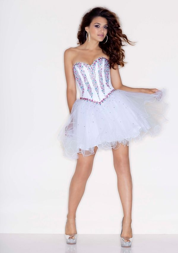 Sensual Looking Tulle Homecoming Dresses Ball Gown Sweetheart ...