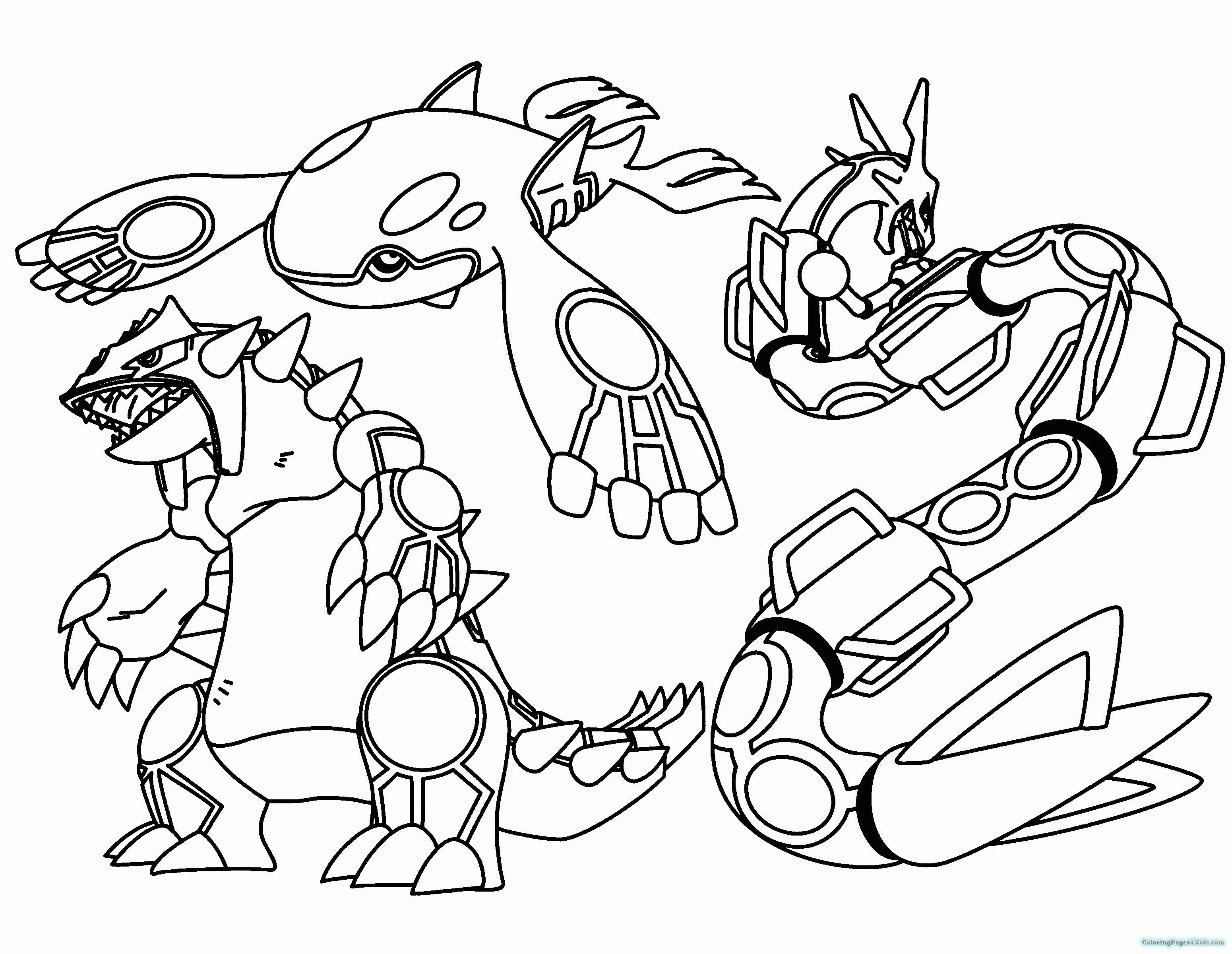 Pokemon Kyogre Coloring Pages Pokemon Coloring Pages Cartoon