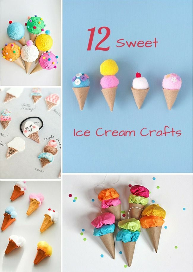 12 Of The Sweetest Ice Cream Crafts Ever Cute Summer Kids