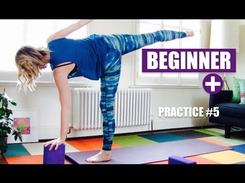 beginner yoga flow half moon warrior 3 balance standing