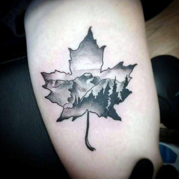 Small Canada Tattoo: 60 Leaf Tattoo Designs For Men
