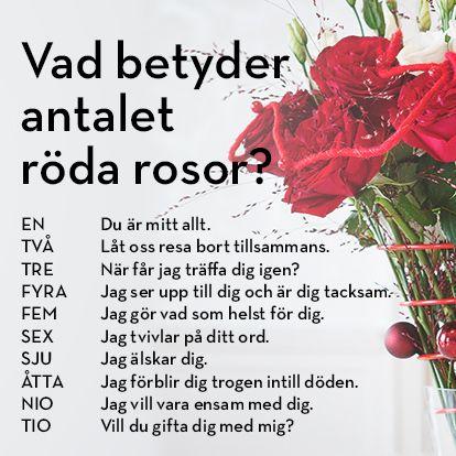 hur många blommor betyder vad