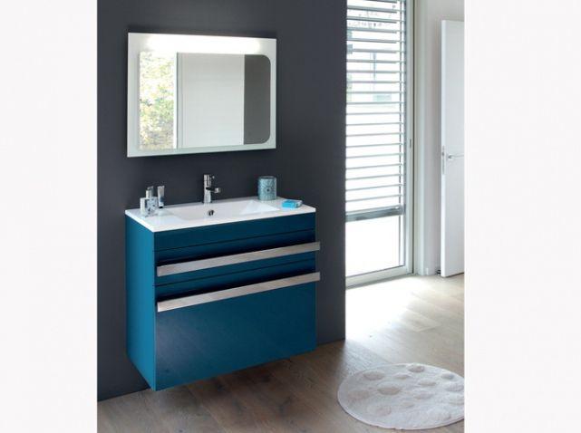version pastel turquoise ou marine en total look ou pas petites touches la salle de bains se pare de bleu dcouvrez notre slection de salles de bains - Meuble Salle De Bain Bleu Marine