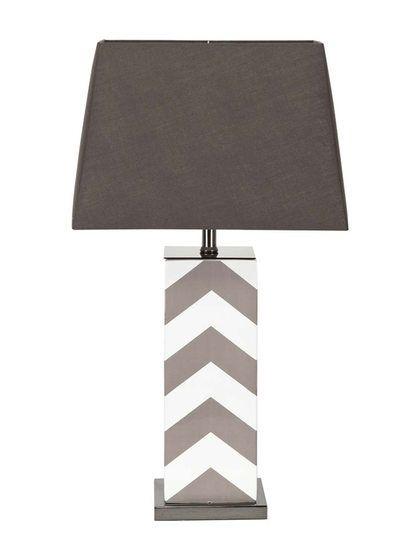 Chevron Table Lamp By Mercana At Gilt Living Room Redo Lamp Chevron Table