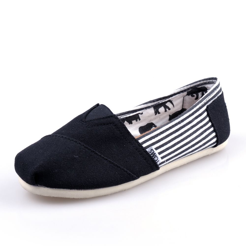 Cheap Discount University Stripe Black Mens Classics Toms Shoes Latest Now