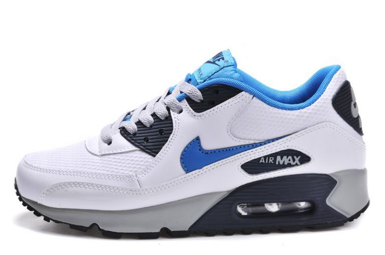 reputable site ae67c 6f57a Commercialisable Nike Air Max 90 Essential Blanc Neon Turquoise Homme