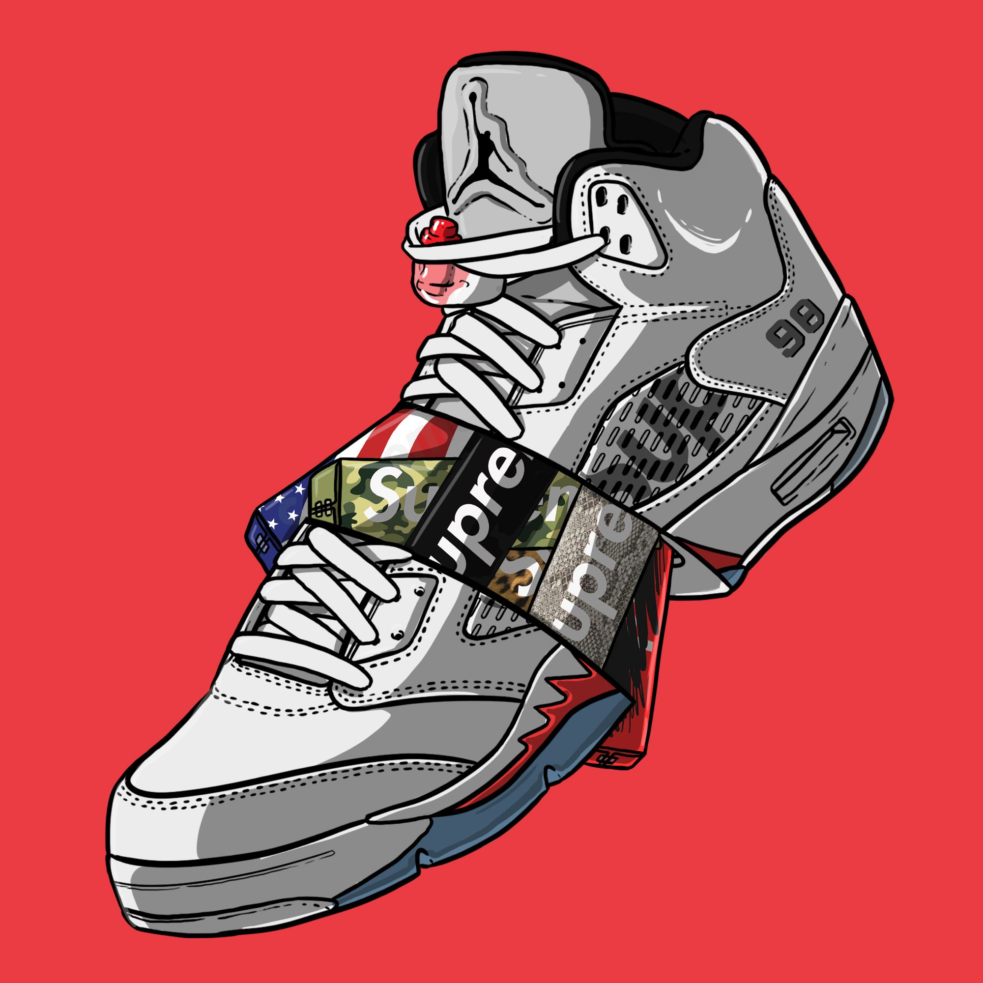 nike shoes x bape animated artwork photographs 941820