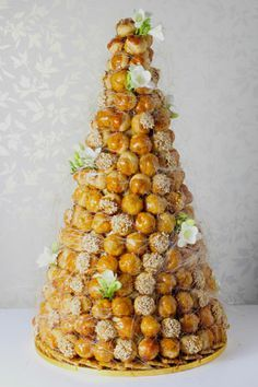 Croque en Bouche traditional French wedding cake. Nice alternative.