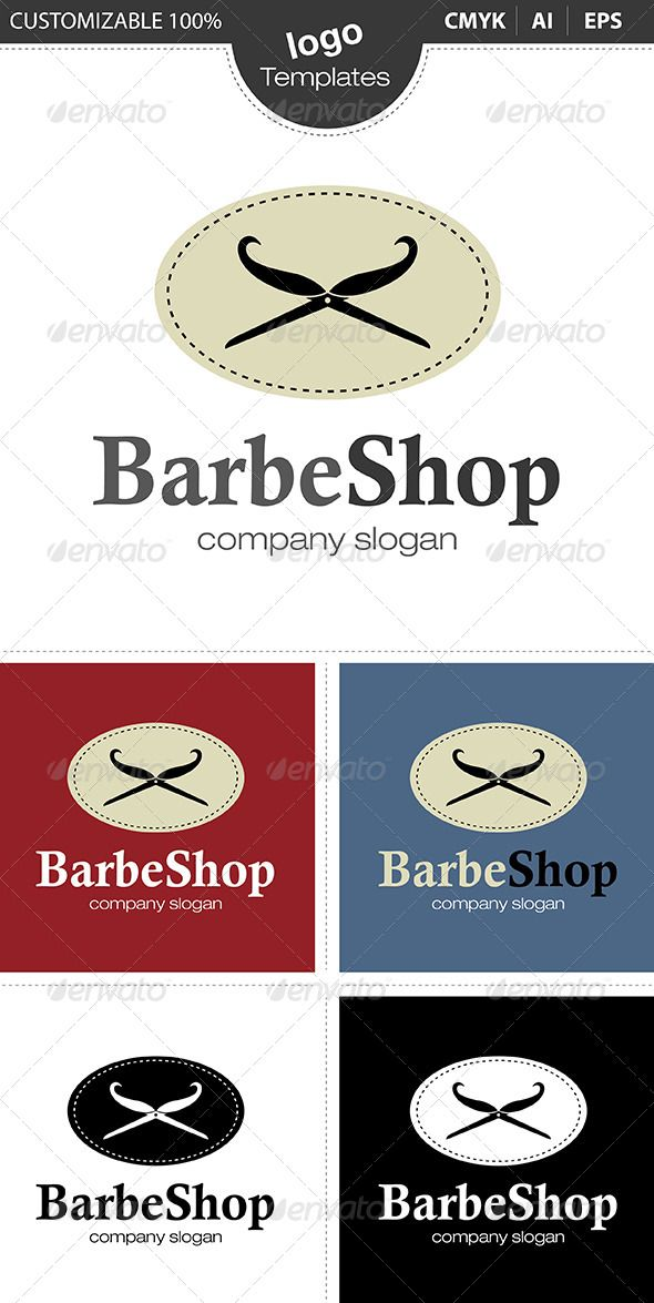 Barbe Shop Logo #GraphicRiver The Pack included: Ai, EPS