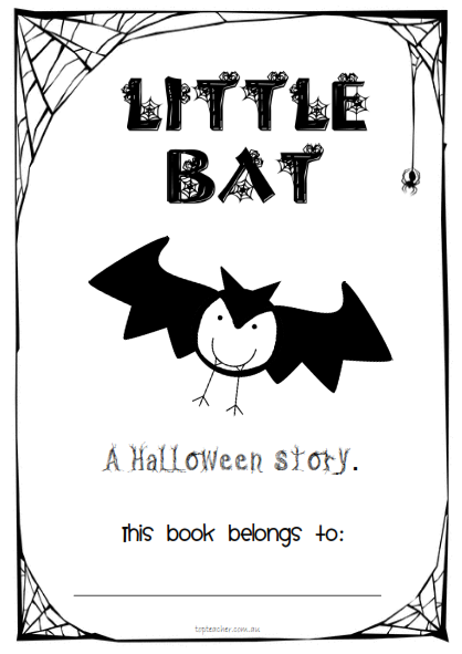 this halloween printable book comes in 2 different formatsformat one has the word printed - Halloween Printable Book 2