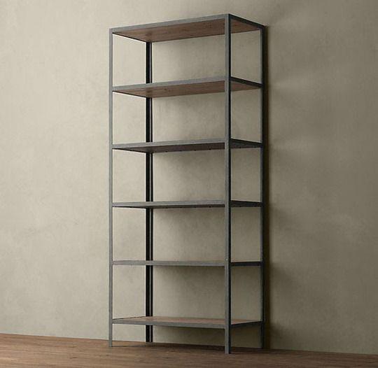 10 Metal Wood Bookshelves For A Warm Industrial Look With Images Industrial Bookcases Industrial Design Furniture Vintage Industrial Furniture