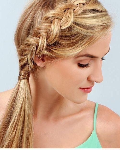 18 cute braided ponytail styles | colas de caballo, trenza y caballos