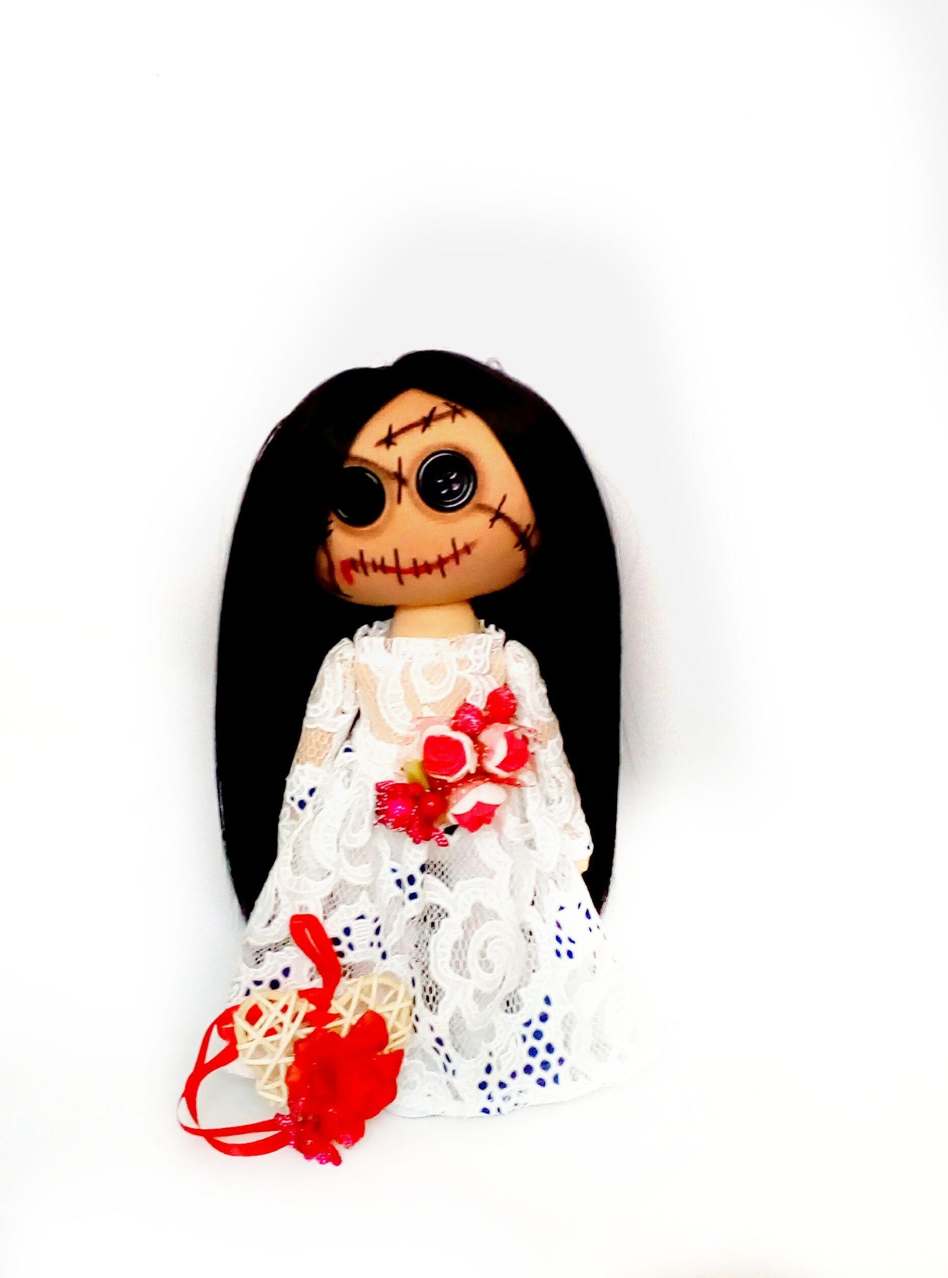 Creepy scary bride doll #bridedolls