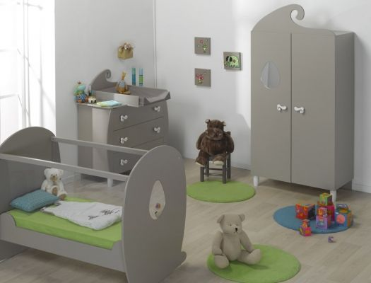 Chambre bébé Lutin lin lit Plexiglas® | chambre bebe | Chambre bébé ...