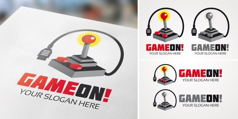 Game On - Gaming Logo Template   Codester   Pinterest   Logo