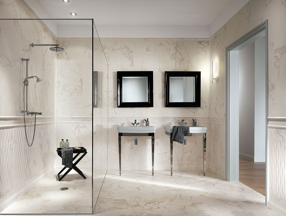 Calacatta Marble Tiles Bathroom Carrelage Carrelage