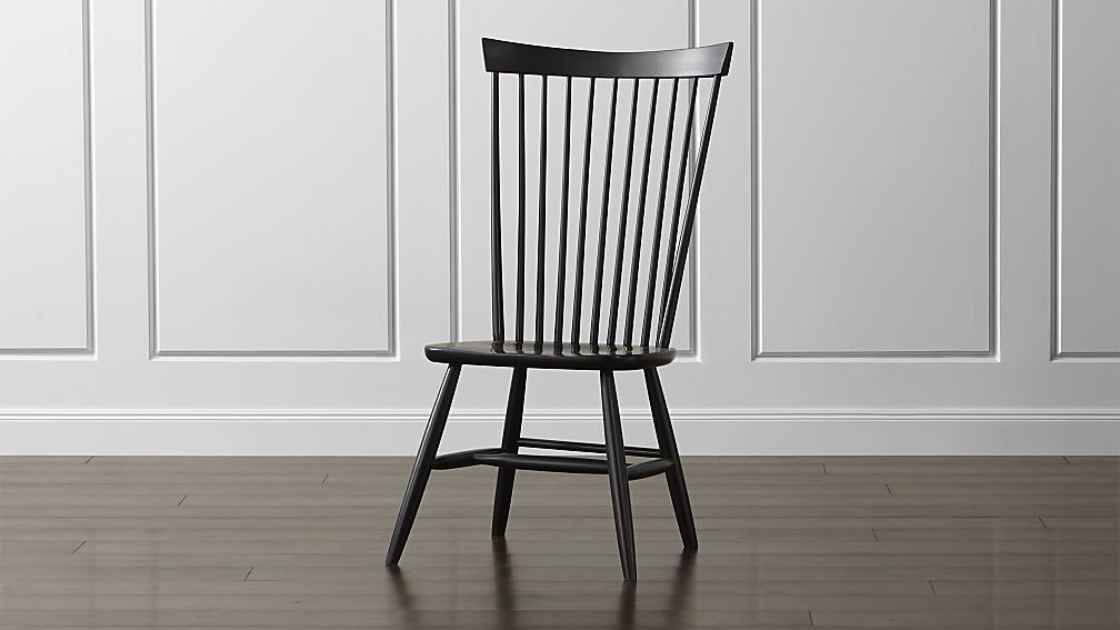 Marlow Ii Wood Dining Chair Crate And Barrel With Images Black Dining Chairs Dining Chairs