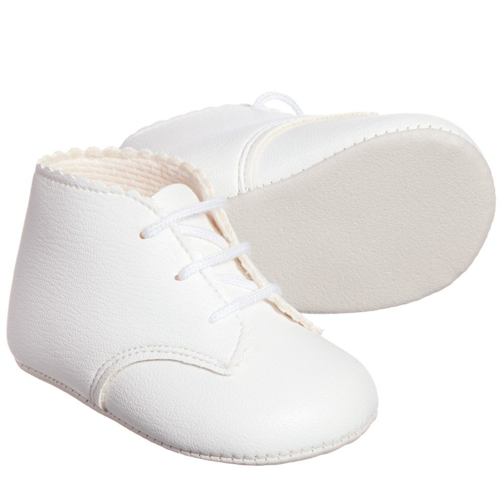 73fecdc74d424 Baypods by Early Days white imitation leather, synthetic pre-walker boots  with a soft, flexible sole and a comfortable, lightly padded insole.